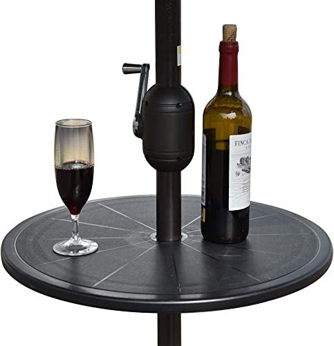 Sundale All Weather Umbrella Table Adjustable Plastic Beach Patio Garden Poolside Accessory