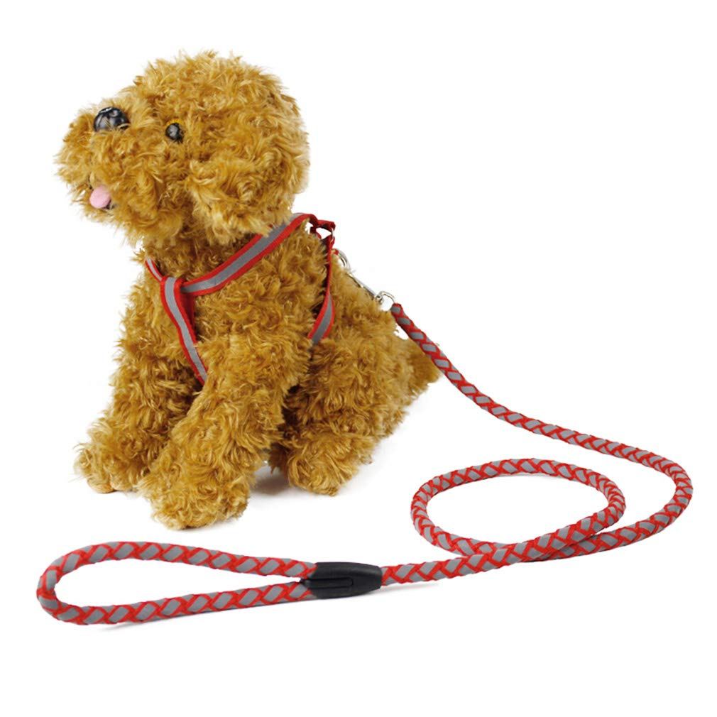 M Dog Reflective Lead Leash Long Polyester Training Dog Leash for Pet Tracking Training Chest Strap Dog Leash Lead (Size   M)