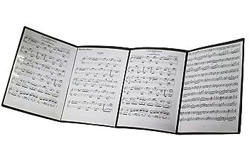 MOREYES Carpeta de música para hojas de música desplegable cuando se ...