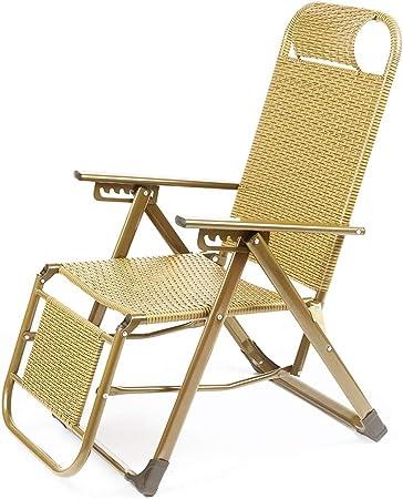 Tumbona Plegable Oficina de Ocio Siesta Silla Tumbona sillas reclinables jardín Terraza Playa Tumbona de Patio reclinable al Aire Libre (Color : Negro, Diseño : A): Amazon.es: Hogar