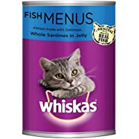 Whiskas Whole Sardines in Jelly, Can, 400g