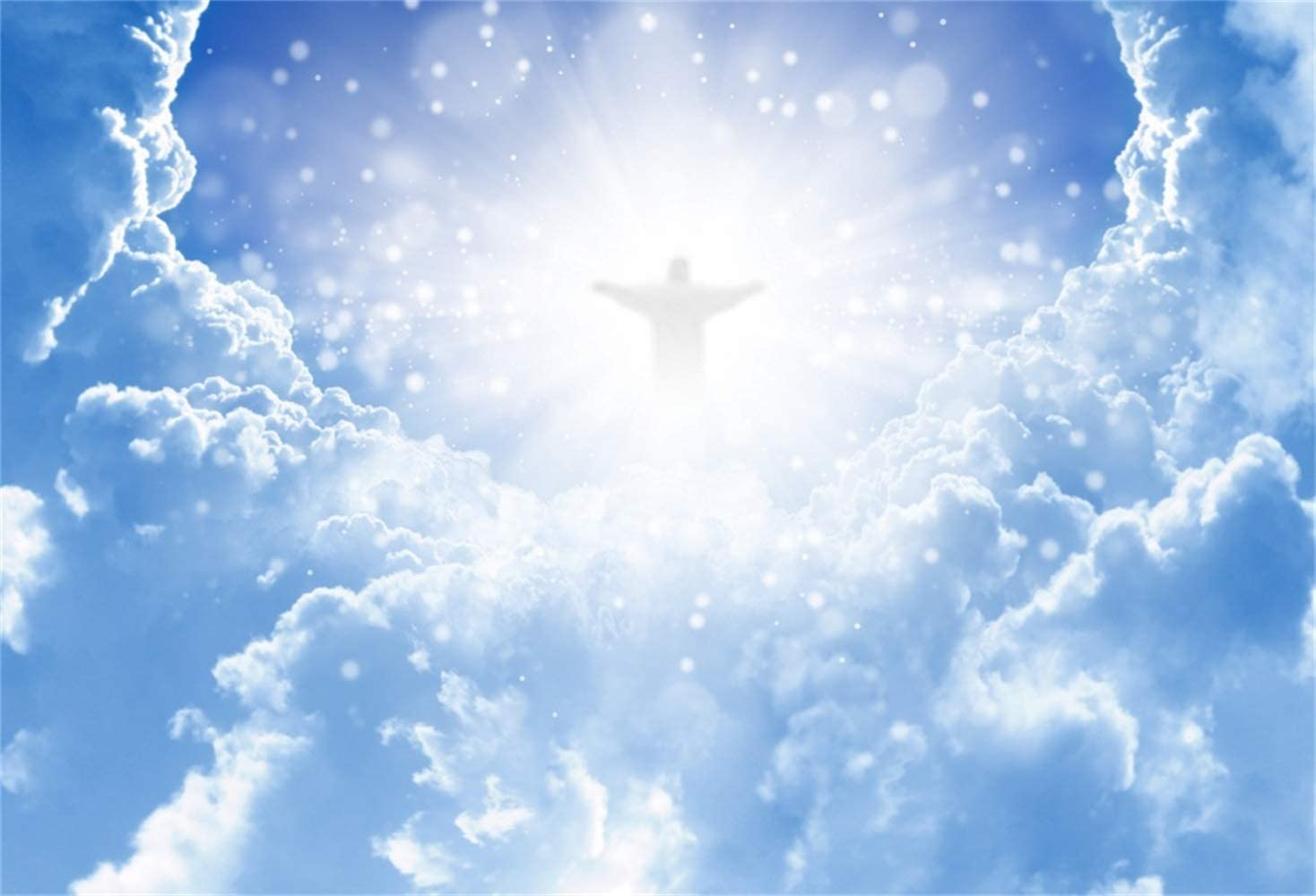 Amazon.com : Laeacco Jesus Christ Above The Heaven Clouds Circle Scene  Backdrop Vinyl 10x8ft Christian Photography Background Bible Story Trinity  Christmas Evening Party Church Activities Mural Religious Belief : Camera &  Photo