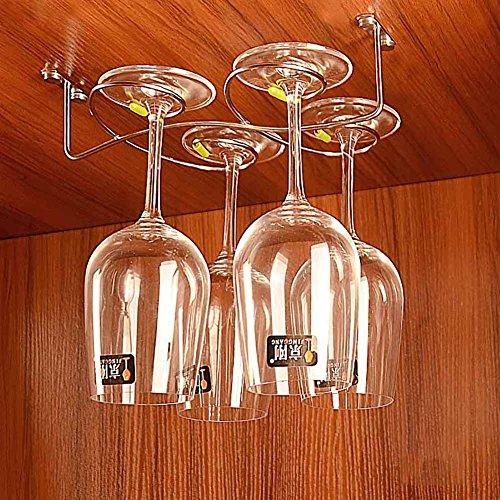 TY&WJ Stainless Steel Glass Rack Hanging Wine Glass Holder U