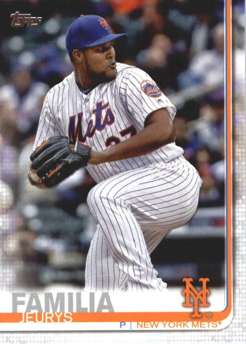 2019 Topps #589 Jeurys Familia New York Mets Baseball Card