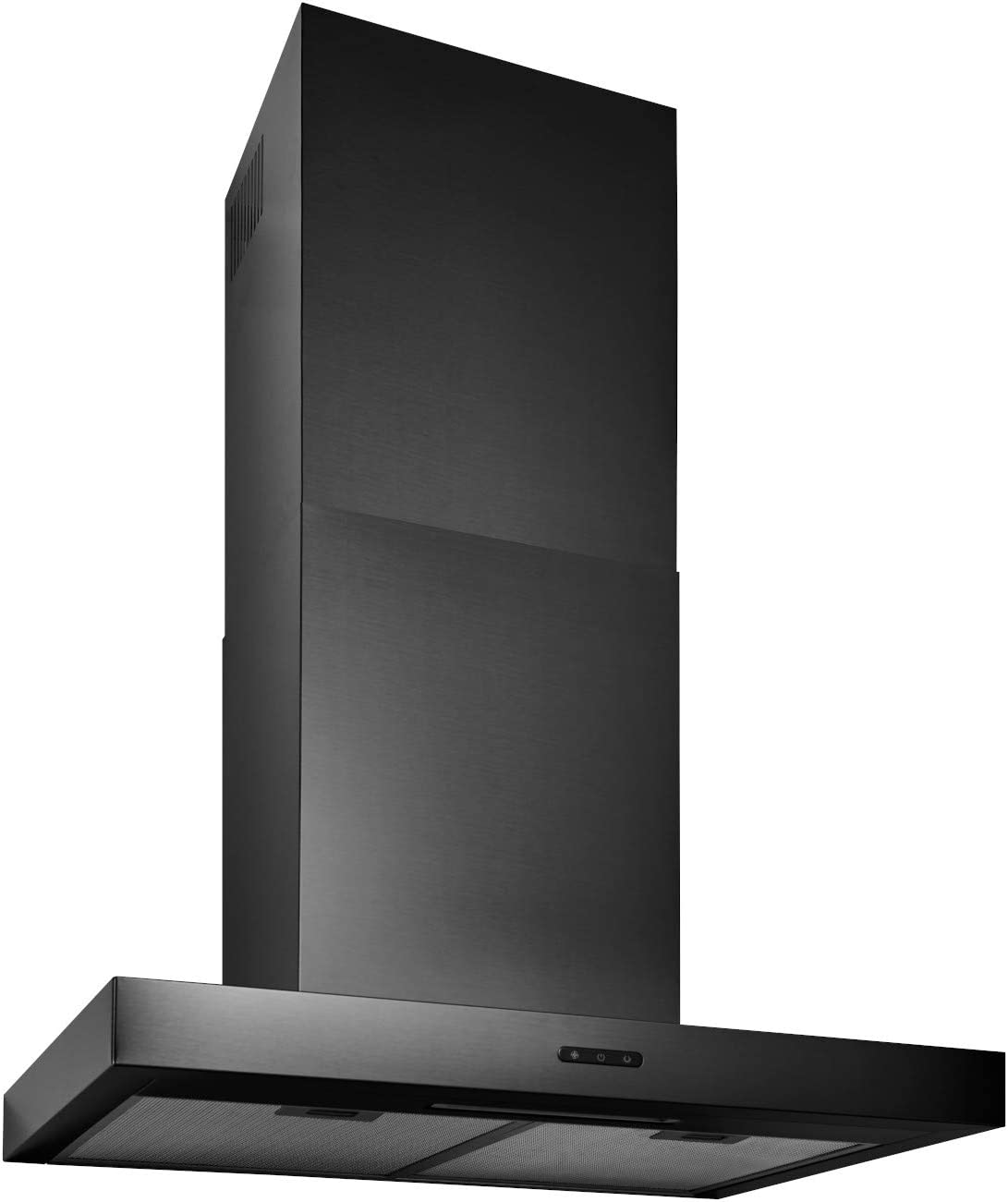 Broan-NuTone EW4336BLS Wall-Mount Black Stainless Steel Chimney Insert with LED Light, 400 CFM, 36-Inch Range Hood