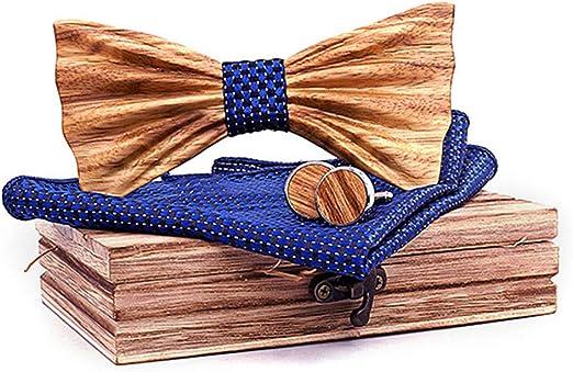 Men/'s microfiber Pre-tied Bow Tie /& hankie set blue royal blue checkers formal