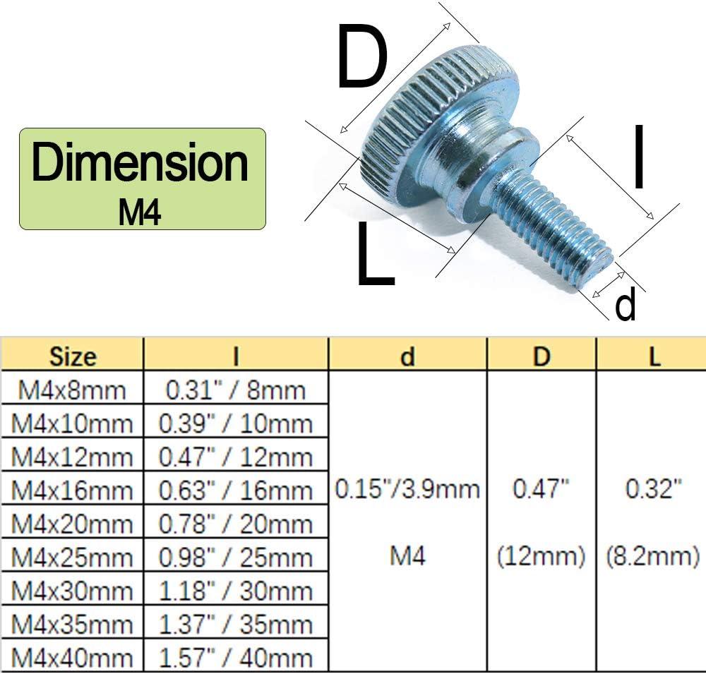 Tornillos para m/áquina de coser chapados en zinc, 4 mm x 12 mm, 20 unidades M4