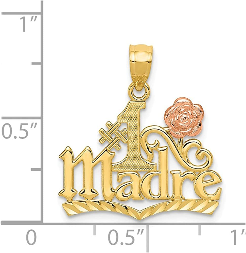14k Yellow /& Rose Gold #1 Madre Pendant