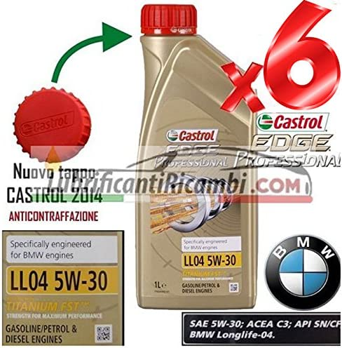 Castrol Edge Fst 5 W30 Engine Oil 6 Litre Equivalent To Vw 504 00 Bmw Longlife 04 Auto