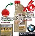 6 LITRI OLIO MOTORE CASTROL EDGE 5W30 FST TAGLIANDO VW 504.00 BMW LONGLIFE 04