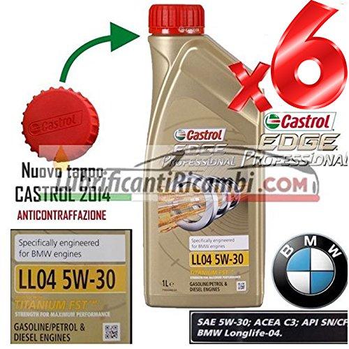 4 opinioni per 6 LITRI OLIO MOTORE CASTROL EDGE 5W30 FST TAGLIANDO VW 504.00 BMW LONGLIFE 04
