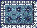 Oriental 60x80cm Mat Tile Rug Carpet PVC Vinyl Floor Kitchen Salon Decoration TM-230