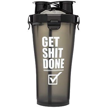 Amazoncom Hydracup 36oz Dual Shaker Bottle Shaker Cup Get It