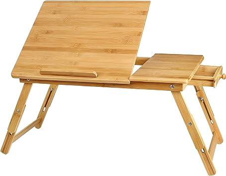 Homfa Mesa Ordenador Portátil de Bambú Soporte para Laptop Tableta ...