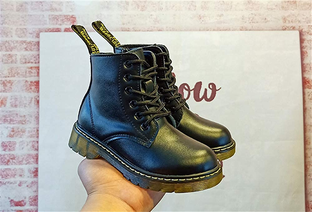 Toddler//Little Kid//Big Kid MODEOK Boys Girls Classic Waterproof Leather Outdoor Ankle Winter Boots 0 0