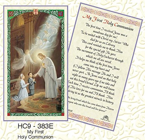 My First Holy Communion Laminated Prayer Cards - Pack of 25 - HC9-383E ()