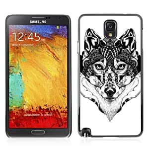 Designer Depo Hard Protection Case for Samsung Galaxy Note 3 N9000 / Beautiful Pattern Wolf Art