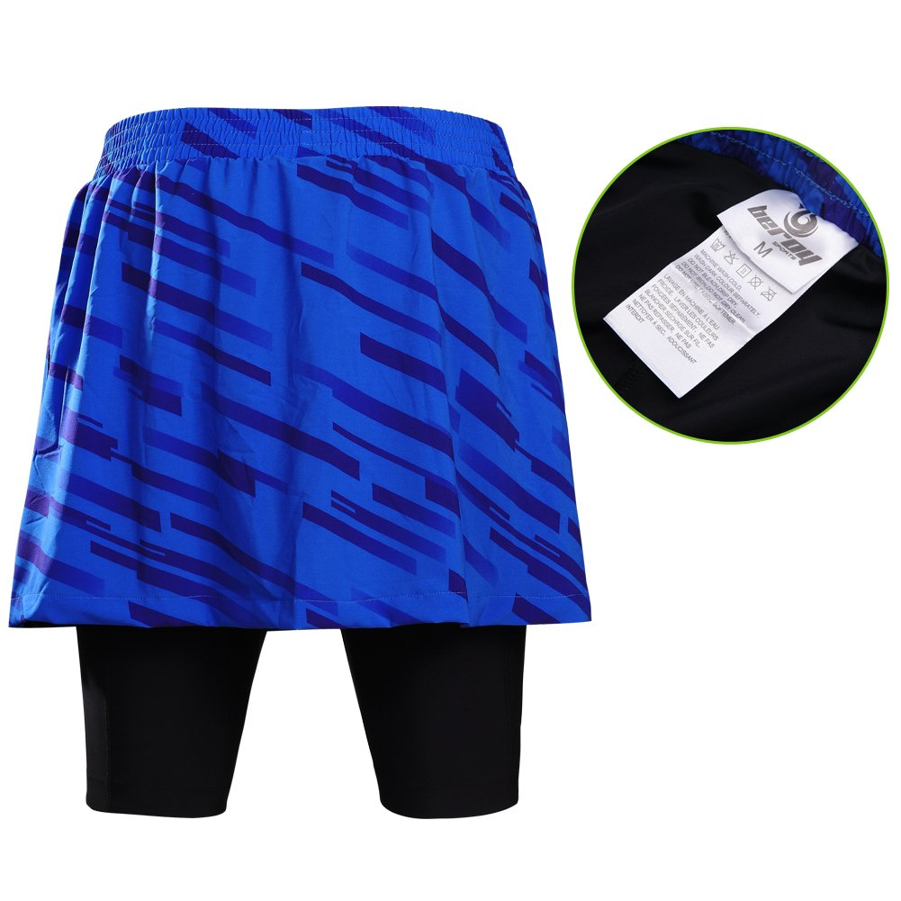beroy Women Quick Dry and Breathable Cycling Skirt Shorts,Bike Skorts Pantskirt with 3D Padded S6-A0T9-WLQ8