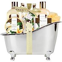 Spa Luxetique Spa Gift Basket Vanilla Fragrance, Luxurious 8pc Gift Baskets for Women, Cute Bath Tub Holder - Best…
