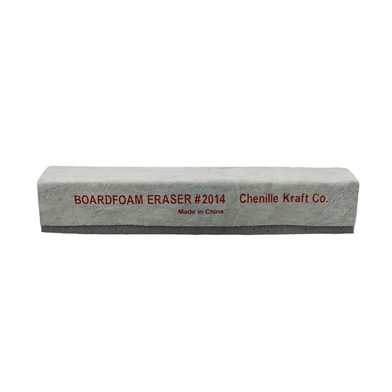 Chenille Kraft CK-2014BN Latex & Suede Eraser, 12'' (Pack of 12) Grade Kindergarten to 1 Age 12'' Height, 2.25'' Wide, 12'' Length (Pack of 6)