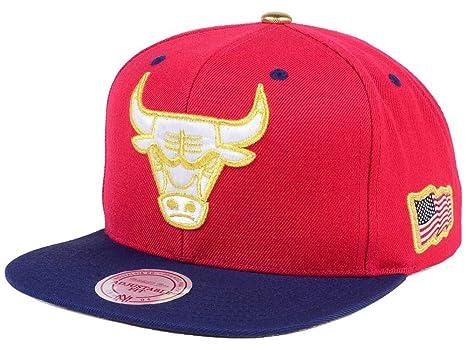 Mitchell   Ness NBA USA 2 Tone Gold Logo Adjustable Snapback Hat Red Navy ( 5198f9462d61