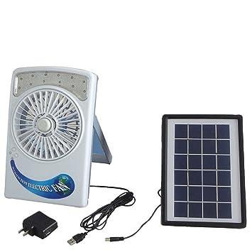 LDRAGON Ventilador USB Cargador Solar Para Interiores Y Exteriores CE 4 Pulgadas Portátil Y Portátil Iluminación