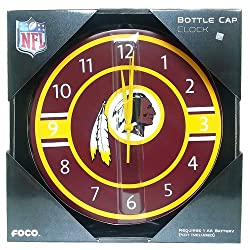 OKSLO NFL Washington Redskins Bottle cap Wall Clock Team Logo