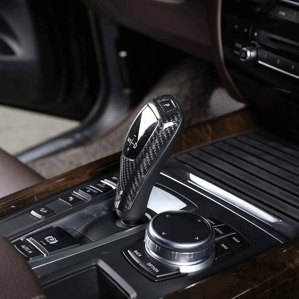 Carbon Fiber Gear Shift Knob Cover Trim for BMW F20 F30 F31 F34 X5 F15 X6 F16 X3 F25 X4 F26 F10 Style2