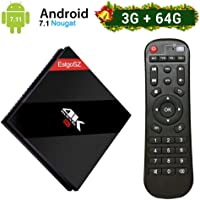 [3GB DRR3/64GB EMMC] EstgoSZ Android 7.1 TV Box mit Amlogic S912 Octa Core 64bits CPU,4K Ultra HD Smart TV Box mit 2.4+5.0GHz Dual WiFi 1000M LAN Bluetooth 4.1 H.265 3D Set Top Box
