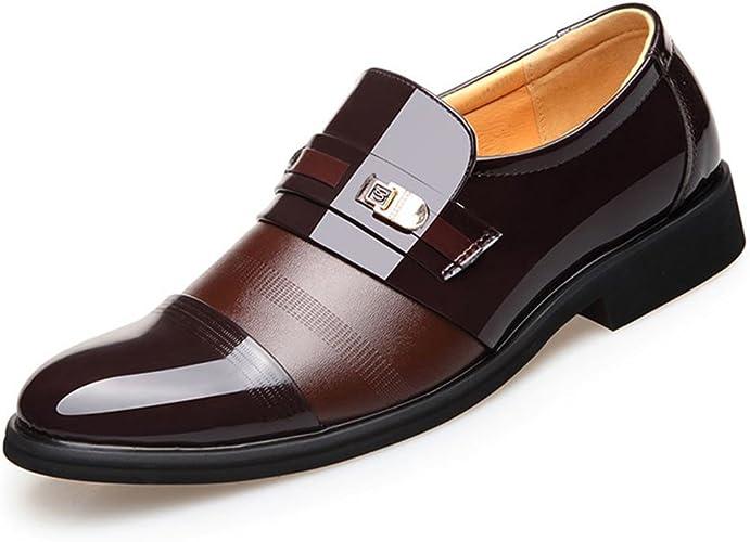 Amazon.com: Blivener - Zapatos de vestir de piel para hombre ...