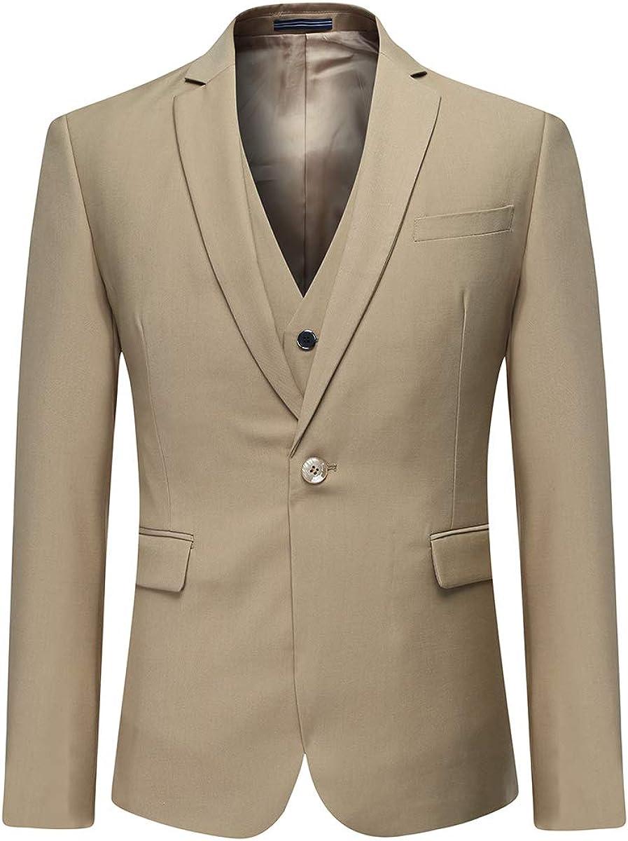 YOUTHUP 3 Teilig Herren Anzug Smoking mit Weste Jacke und Hose f/ür Business Hochzeit und Party EIN oder Zwei Knopf