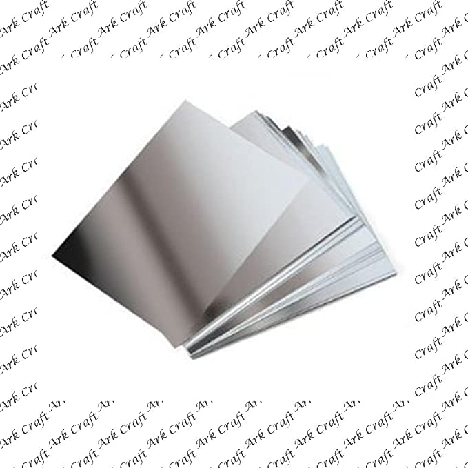 50 x A4 Silver Metallic Pearlescent Shimmer Pearl Card 260gsm ~ Double Sided