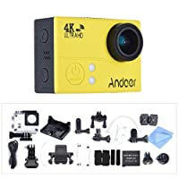 Action cam Andoer Act cam 4k action camera Wifi 1080 HD sport camera 16MP impermeabile (Giallo)
