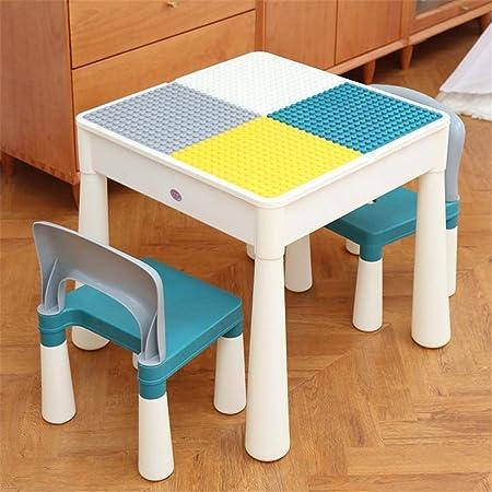 Bloques de construcción de la tabla Tabla habitaciones de niños niños puzzle montado Mesa de jardín