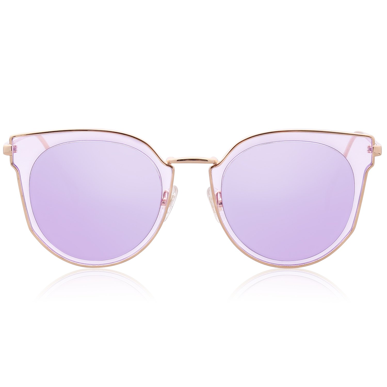 6e8f1845e5f0 SojoS Fashion Polarized Sunglasses for Women UV400 Mirrored Lens SJ1057  with Gold Frame Purple Mirrored Lens  Amazon.ca  Clothing   Accessories