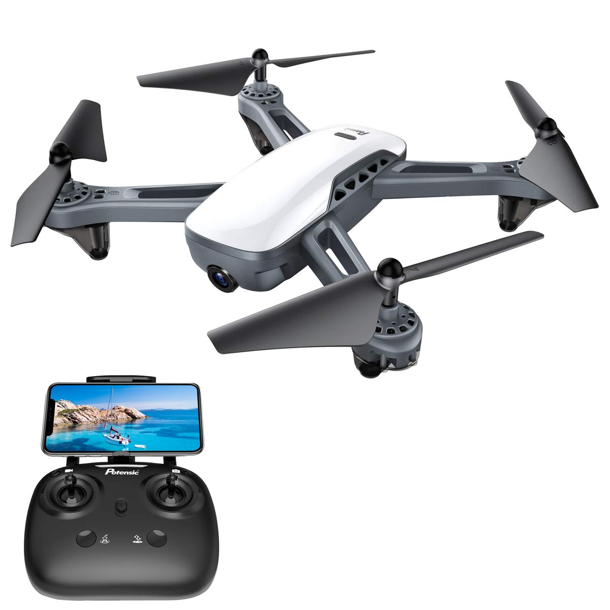 GPS Drones, Potensic D50 Quadcopter with Camera Live Video,GPS Return Home,