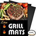 BBQ Grill Mat, Set of 3 - 100% Non-stick Baking Mats - 15.75 x 13 Inch, Works on Gas, Charcoal, Electric Grill and More.