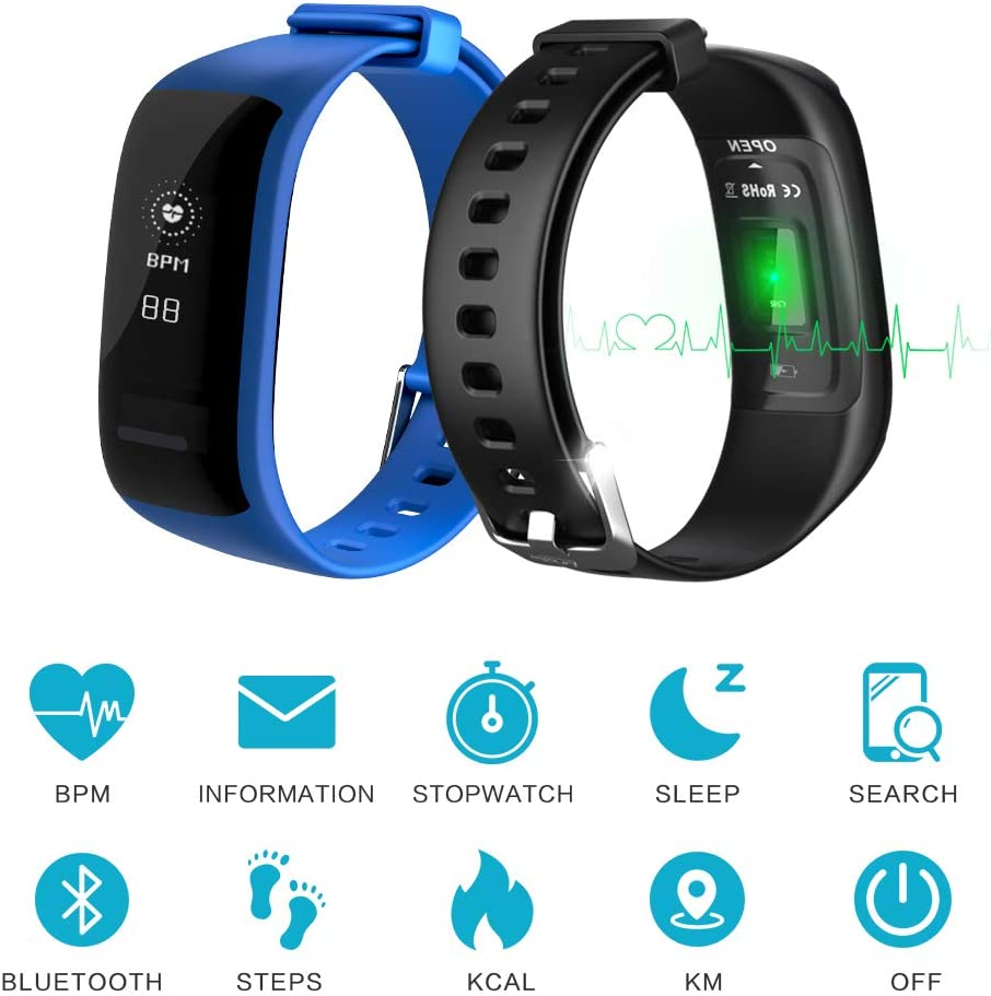 beitony Fitness Tracker, Activity Tracker Watch with Heart Rate and Sleep Monitor, Smart Bracelet Bands Replacement with Step Counter, Calorie Counter, Fitness Watch for Kids Women and Men