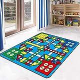 USTIDE 5'x7' Flying Chess Kids Rug Kids Children Playmat Activity Kids Rug