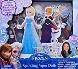 Disney FROZEN Sparkling ELSA & ANNA MAGNETIC PAPER DOLL Set w 25+ Magnetic FASHIONS, Stickers, GEMS & More (2014)