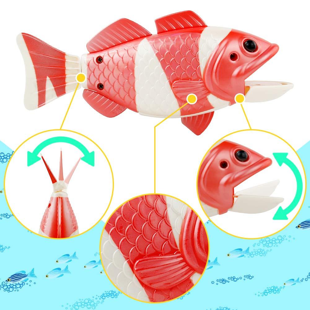 jerryvon Juego Pesca Magnetico Peces de Juguete de Plastico Juego de Ba/ño Beb/é Juguete con 1 Pez Grande y 1 Ca/ña de Pescar Magn/ética Ba/ñera Juguetes Ni/ños Ni/ñas de Agua para 3 4 5 A/ños