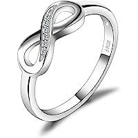 JewelryPalace Anillo en forma Infinito con Circonita en