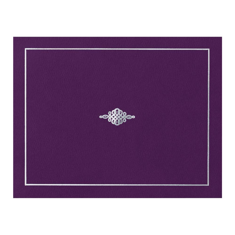 Certificate Jacket with Silver Foil Crest, 9-½ x 12 Inch Folded, Holds 8-½ x 11 Inch Certificates, 10 Count
