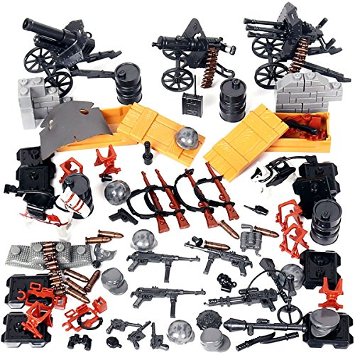 Kolobok WW2 Nazi Toys War Set - WWII German Army Men Blitzkrieg Soldiers Weapons Pack – Guns and Accessories for Minifigures - Building Blocks Military Toys 90 pcs Compatible with Major Brands ()