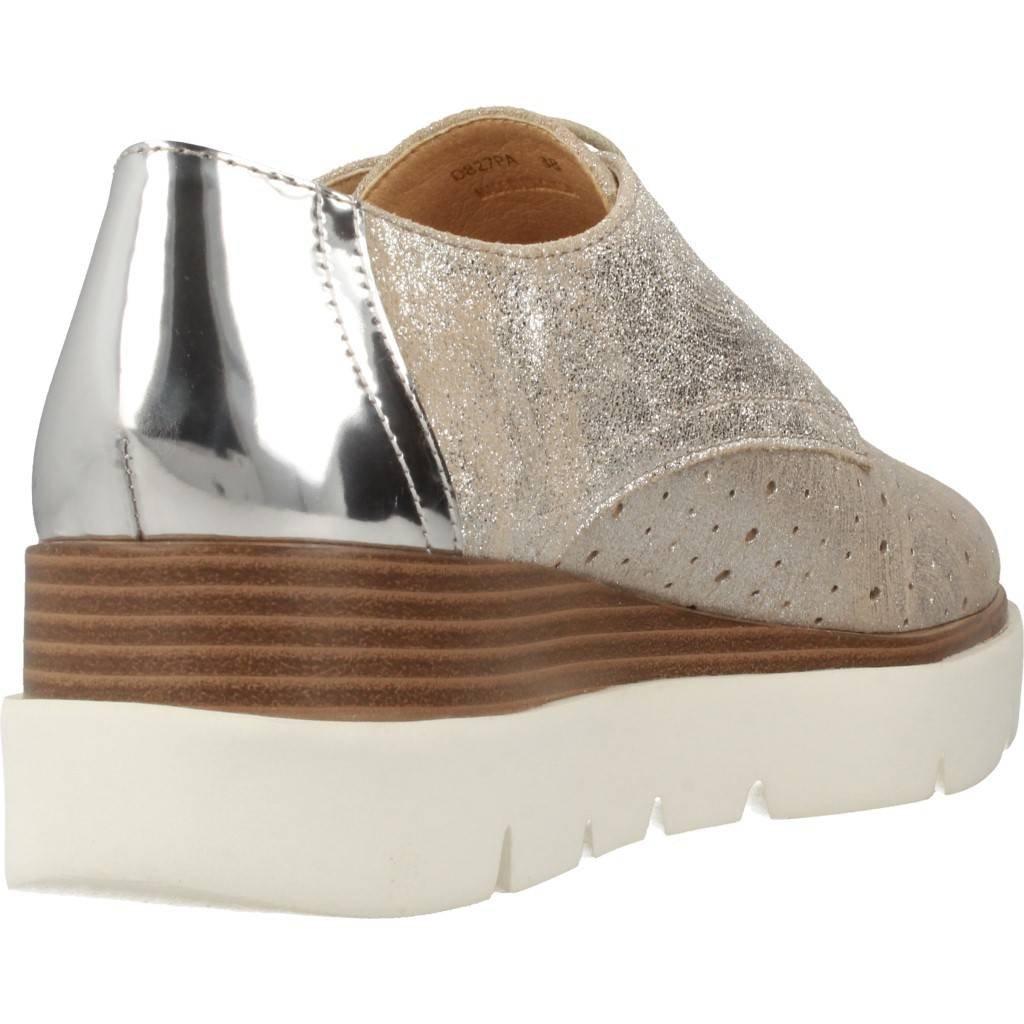 Geox Schuhe D827PA 077BN 077BN D827PA C1007 Silber aa025d