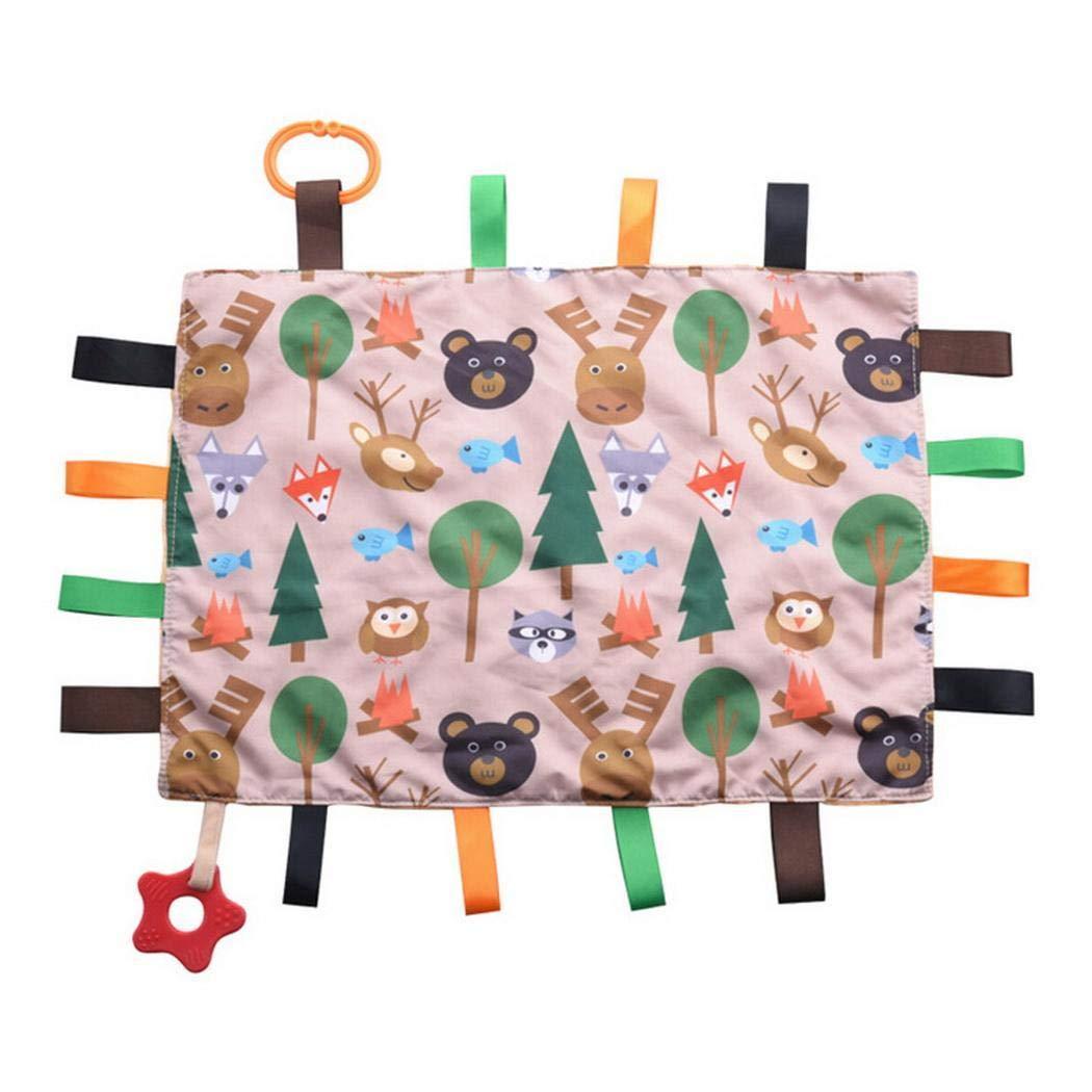 Fanala Soft Cute Cartoon Print Massage Baby Comfort Towel Baby Small Quilt Bath & Hooded Towels by Fanala