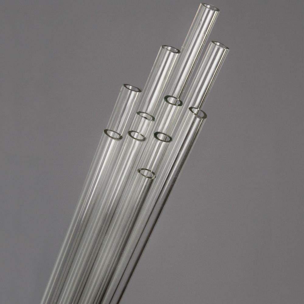 Pyrex Tubing, Hard Glass, 7 mm x 5 ft, 8 Pieces, 1 lb