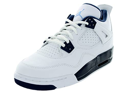 on sale bab92 13ebb Nike - Air Jordan 4 Retro BG - Color: Light blue-Navy blue ...