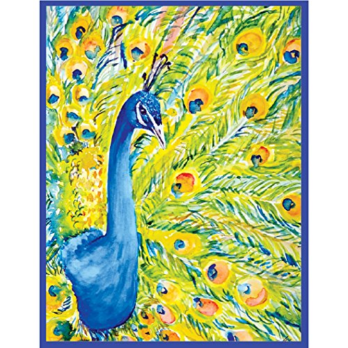 Peacock Note Card Set of 20 cards and white envelopes