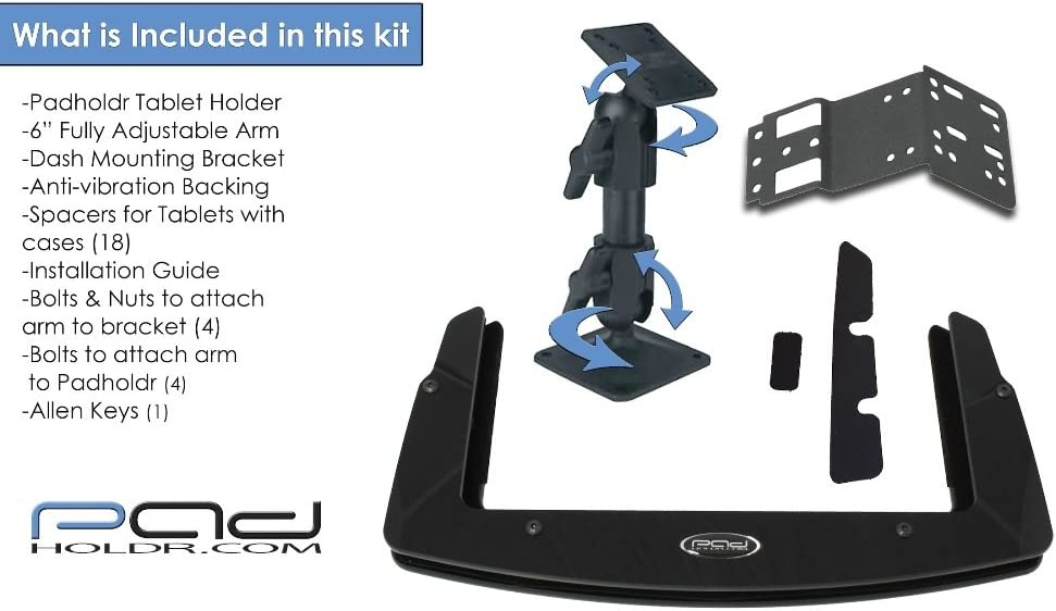 Padholdr Edge Series Premium Tablet Dash Kit for 02-05 Ford Explorer and Mercury Mountaineer Pad Holdr PHE75107-202